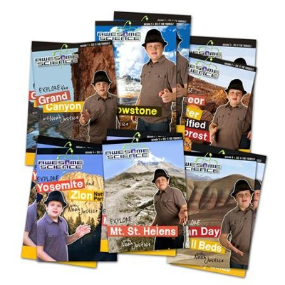 Explore with Noah Justice DVD Pack with Study Guides: Episodes 1-6, Awesome Science Series  -