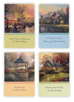 Birthday Cards, Thomas Kinkade, Box of 12   -     By: Thomas Kinkade