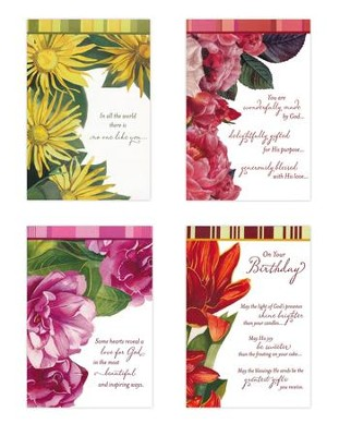 Beautiful Sentiments Birthday Cards, Box of 12  -