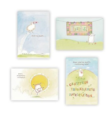Really Woolly Thank You Cards, Box of 12  -