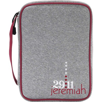 Jeremiah 29:11 Bible Cover, Gray, Large  -