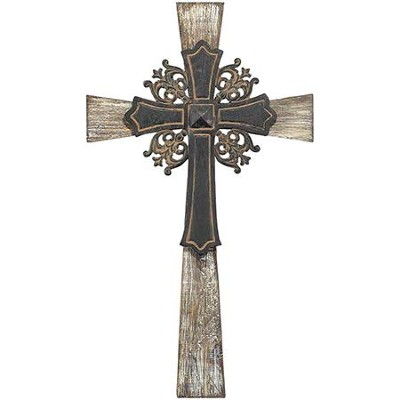 Cross on Cross, Metal Wall Cross  -