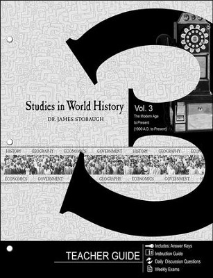 Studies in World History Volume 3, Teacher's Guide  -     By: James Stobaugh