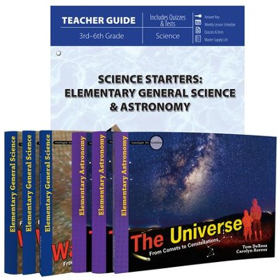 Science Starters: Elementary General Science & Astronomy Pack, 7 Volumes  -