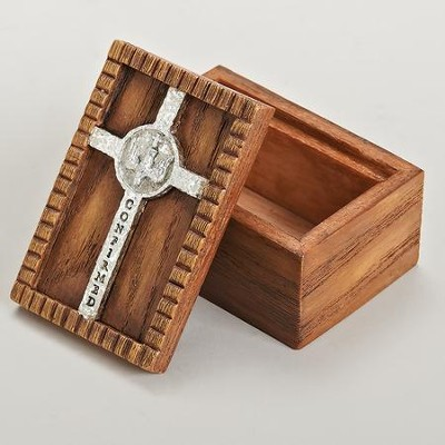 Confirmed Keepsake Box, with Cross and Dove  -