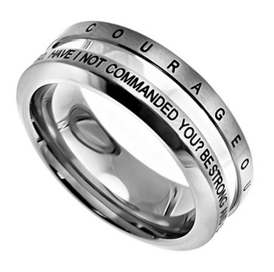 Courage Industrial Men's Ring, Size 14 (Joshua 1:9)  -