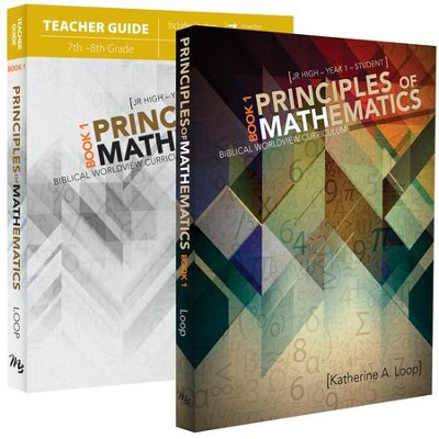 Principles of Mathematics Book 1 Pack, 6th-8th Grade, 2 Volumes  -     By: Katherine A. Loop