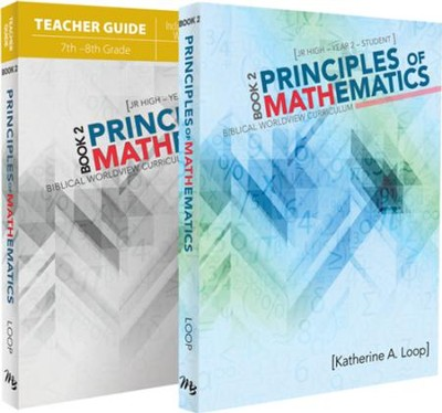 Principles Of Mathematics Book 2 Pack 7th 8th Grade 2 Volumes