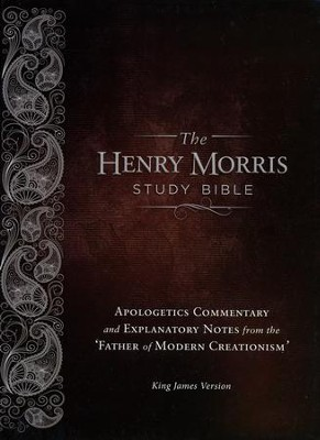 KJV Henry Morris Study Bible; Calfskin, Leather, Brown   -     By: Henry Morris