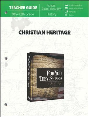 Christian Heritage: For You They Signed Teacher Guide   -     By: Marilyn Boyer