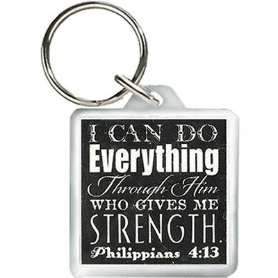 I Can Do Everything Through Him Keyring  -