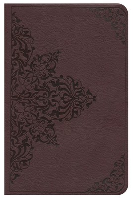 ESV Thinline Value Edition, TruTone, Chestnut, Filigree Design  -