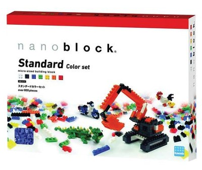 Nanoblock Basics, Standard Color Set with over 800 pieces  -
