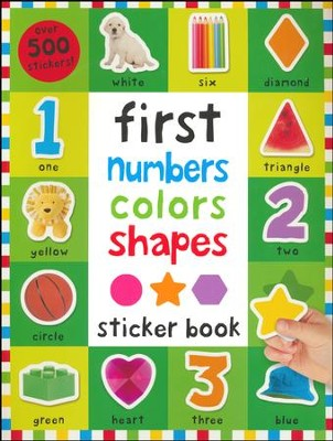 First Numbers, Colors, Shapes Sticker Book  -