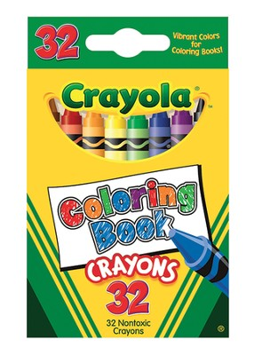 Coloring Book Crayons, Box of 32  -