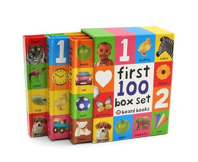 First 100 Board Book Box Set, 3 Books  -