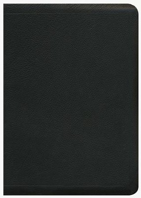 ESV MacArthur Study Bible, Black Genuine Leather  -