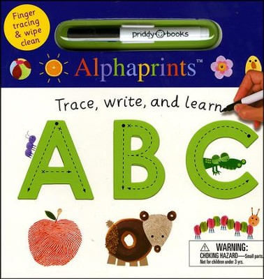 Alphaprints: Wipe Clean Trace, Write, and Learn ABC  -