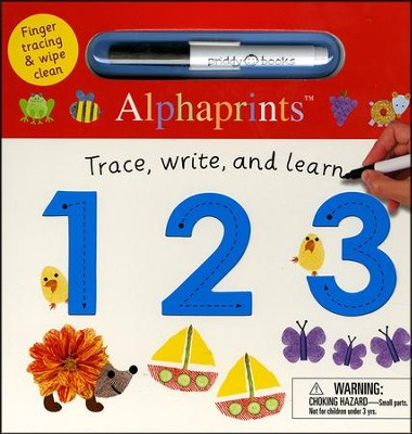 Alphaprints: Wipe Clean Trace, Write, and Learn 123  -