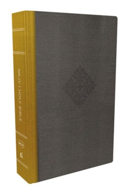 NKJV, Deluxe Reader's Bible, Cloth over Board, Yellow/Gray, Hardcover, Yellow/Gray  -     By: Thomas Nelson