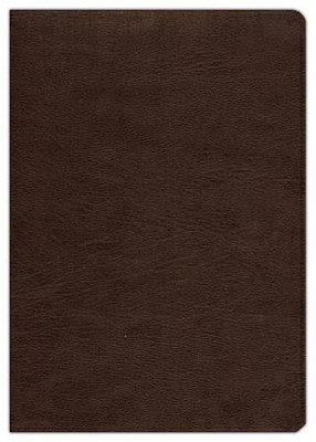ESV Study Bible--genuine cowhide leather, deep brown  -