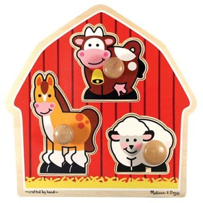 Barnyard Animals Jumbo Knob Puzzle   -     By: Melissa & Doug