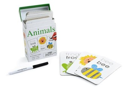 Alphaprints: Wipe Clean Flashcards Animals  -