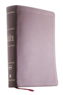 NKJV Comfort Print Open Bible, Imitation Leather, Brown, Indexed  -