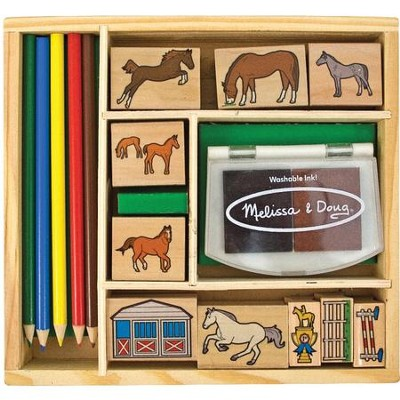 Horse Stable Stamp Set   -     By: Melissa & Doug