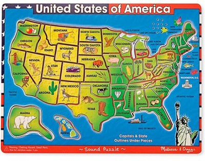 U.S.A. Map Sound Puzzle   -     By: Melissa & Doug