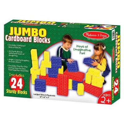 Cardboard Blocks, 24 pieces   -     By: Melissa & Doug