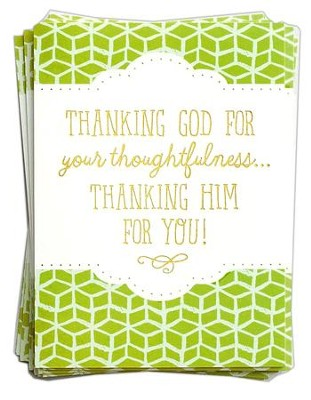 Thanking Him for You, 10 Blank Thank You Note Cards    -