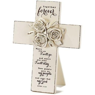 Together Forever, Roses, Tabletop Cross  -