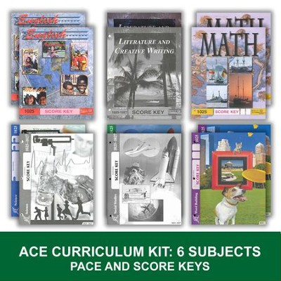 ACE PACEs Grade 3 6-Subject PACEs & Keys Curriculum Kit  -
