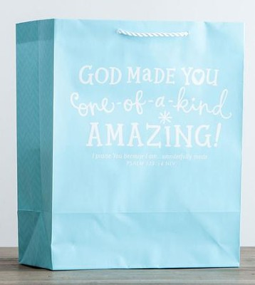 God Made You Amazing Gift Bag, Psalm 139:14, Large  -