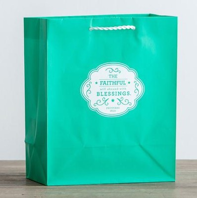 Faithful Blessings Gift Bag, Proverbs 28:20, Medium  -