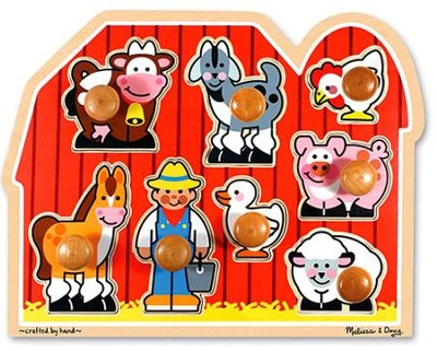 Farm Friends Jumbo Knob Puzzle   -     By: Melissa & Doug