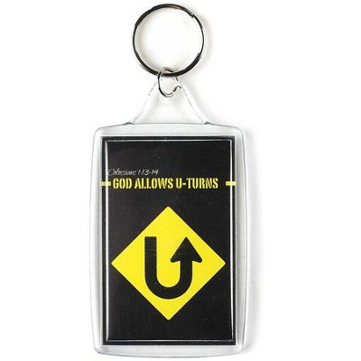God Allows U Turns Keyring  -