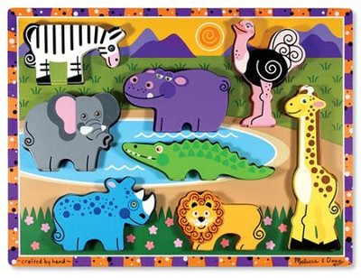 Safari Animals Chunky Puzzle   -     By: Melissa & Doug