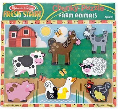 Farm Animals Chunky Puzzle   -     By: Melissa & Doug
