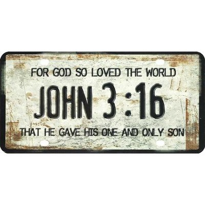 For God So Loved the World License Plate  -