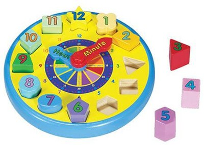 Wooden Shape Sorting Clock   -     By: Melissa & Doug