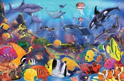 Underwater Floor Puzzle   -     By: Melissa & Doug