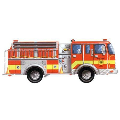 Giant Fire Truck Floor Puzzle   -     By: Melissa & Doug