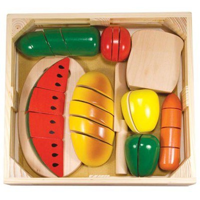 Cutting Food Box & Wood Utensils   -     By: Melissa & Doug
