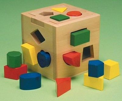 Shape Sorting Wood Cube   -     By: Melissa & Doug