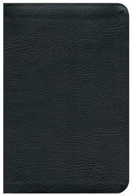 ESV Personal-Size Study Bible-genuine leather,  black  -