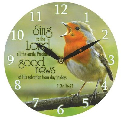 Sing To the Lord Wall Clock, Canvas  -