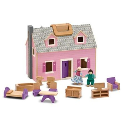 Fold & Go Wooden Dollhouse   -