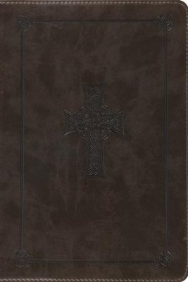 ESV Personal-Size Study Bible, TruTone, Olive Celtic Cross Design  -